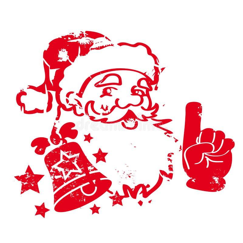 Штемпель Санта Клауса красный иллюстрация вектора