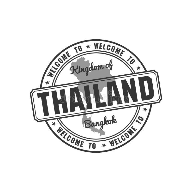 Штемпель с вектором карты Таиланда иллюстрация вектора