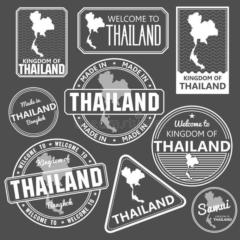 Штемпель с вектором карты Таиланда бесплатная иллюстрация