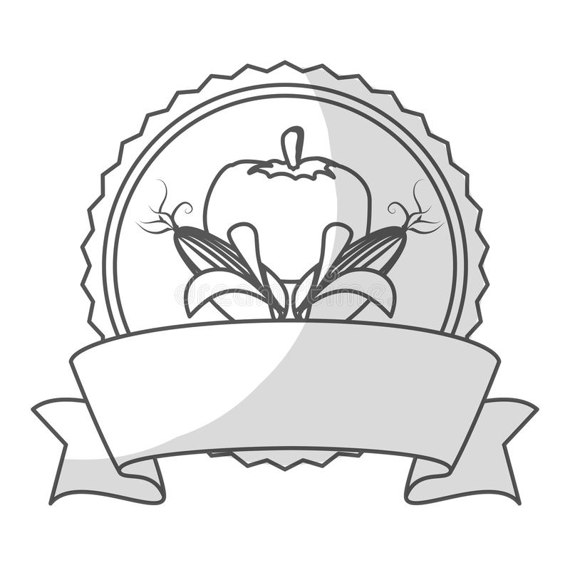 Download Штемпель уплотнения с овощами Иллюстрация вектора - иллюстрации насчитывающей рынок, символ: 81803071
