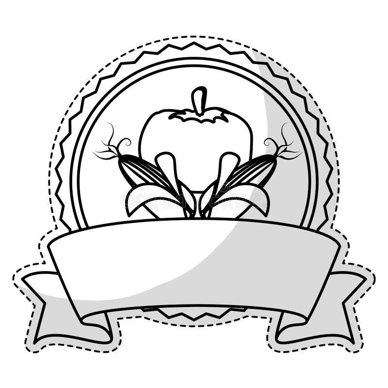 Download Штемпель уплотнения с овощами Иллюстрация вектора - иллюстрации насчитывающей сад, салат: 81803314