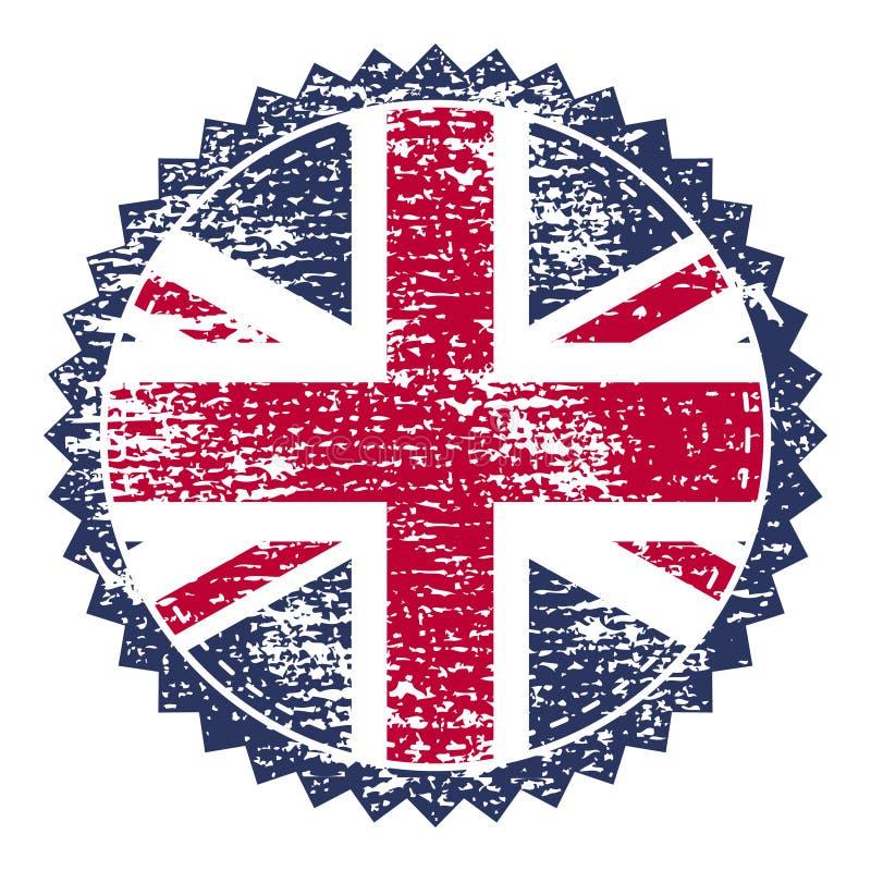 Штемпель grunge Великобритании с флагом соединения также вектор иллюстрации притяжки corel бесплатная иллюстрация
