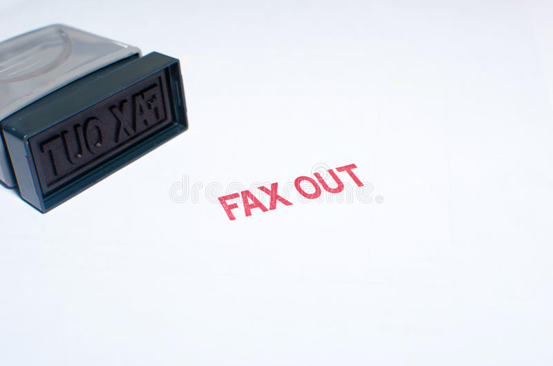 штемпелюющ факс вне стоковое изображение