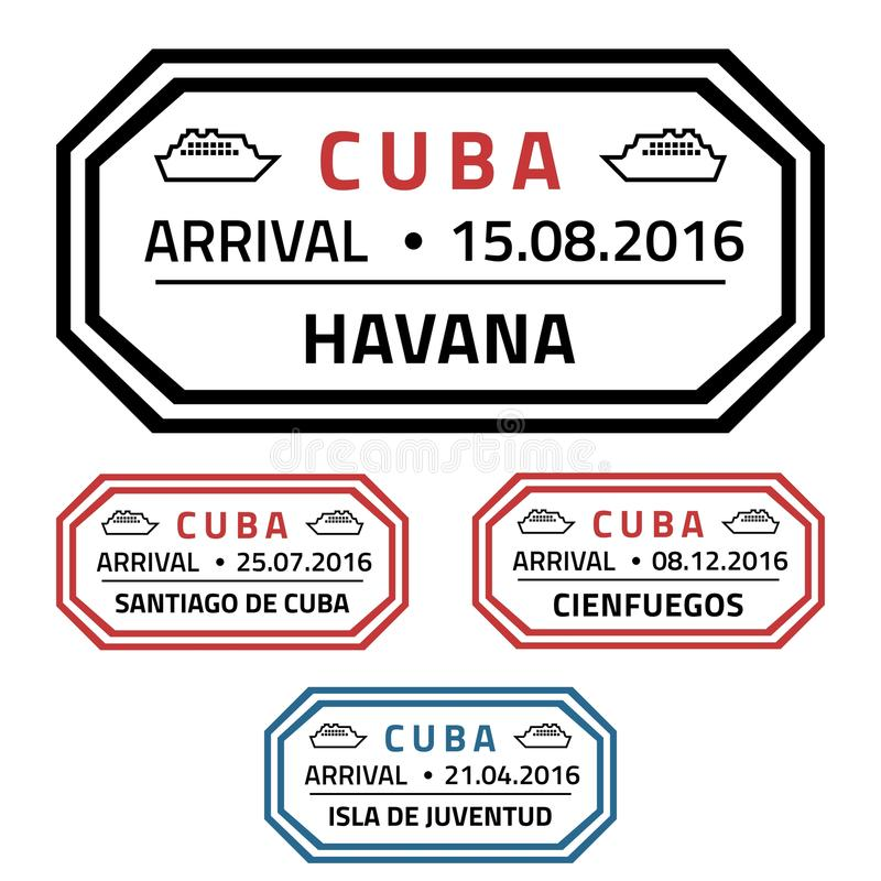 Штемпеля Кубы иллюстрация штока