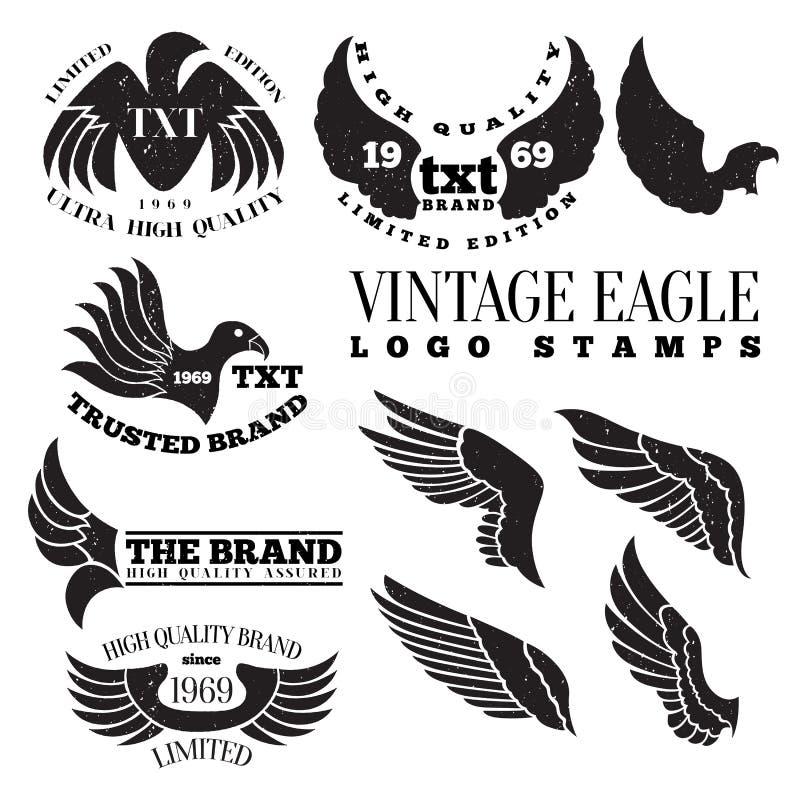 Штемпеля логотипа орла винтажные иллюстрация штока