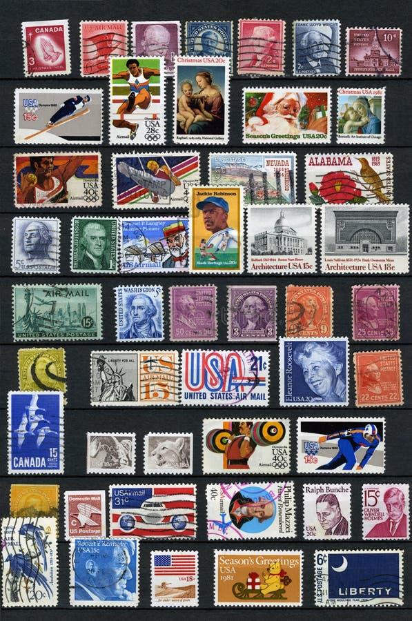 Штемпеля почтового сбора стоковое изображение rf