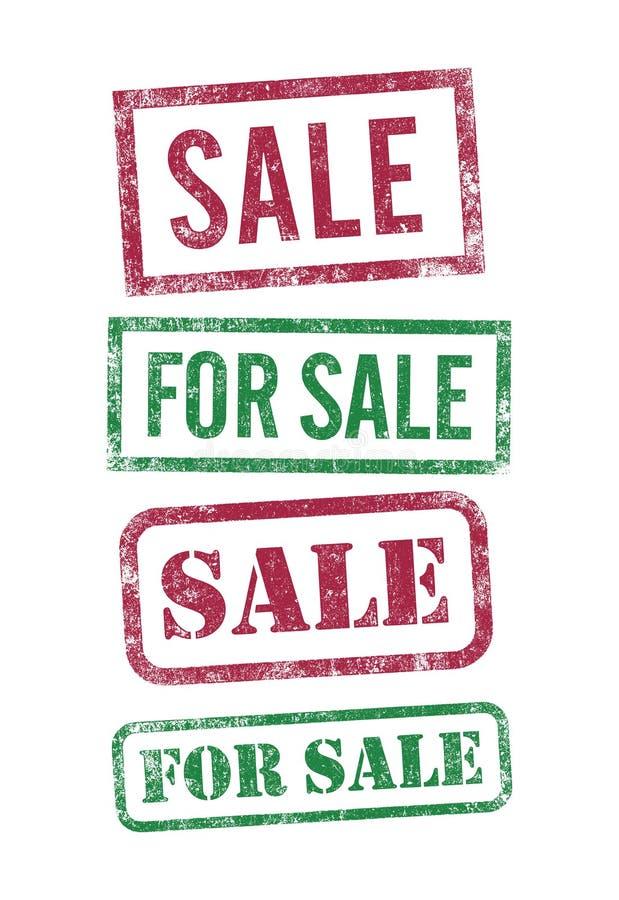 Штемпеля продаж иллюстрация штока