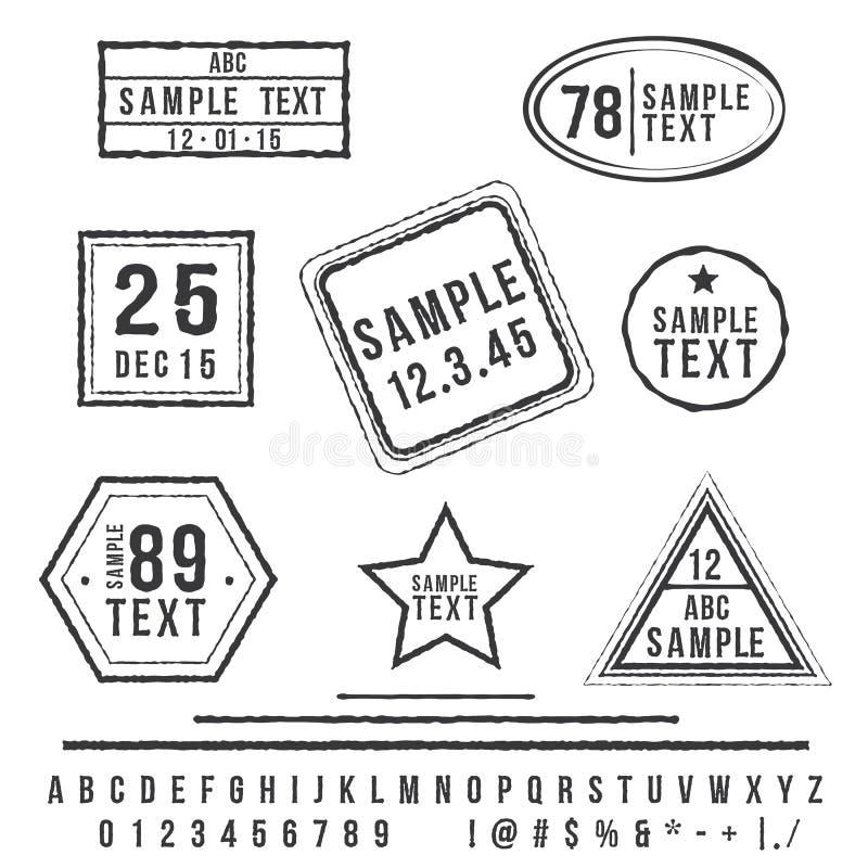 Штемпеля Grunge иллюстрация вектора