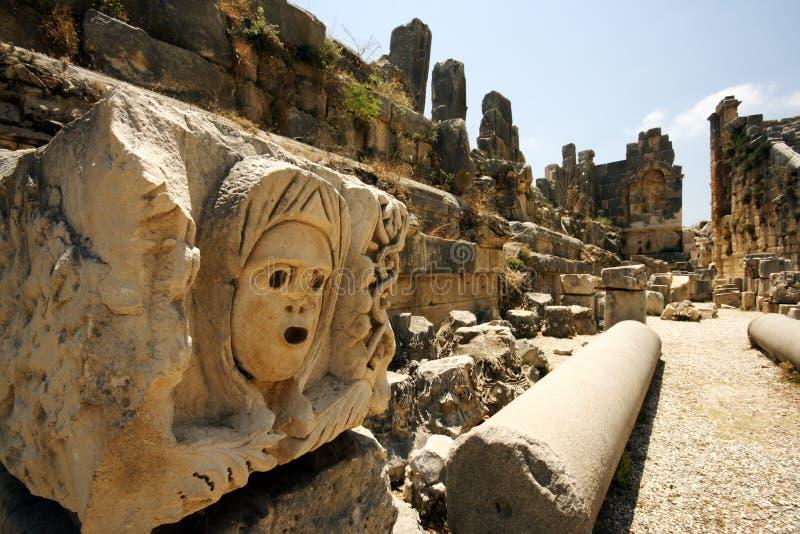 штендеры высеканные амфитеатром стоковое изображение rf