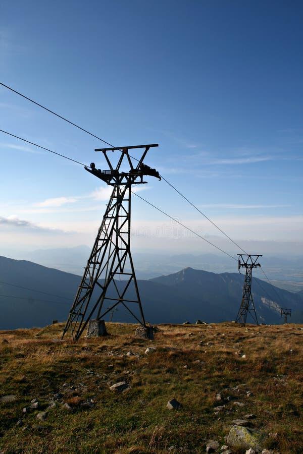 штендеры chairlift стоковое изображение