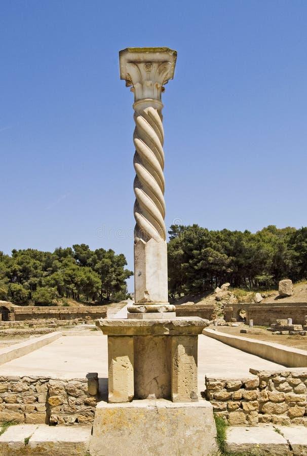 штендер Картагоа amphitheatre римский стоковое изображение