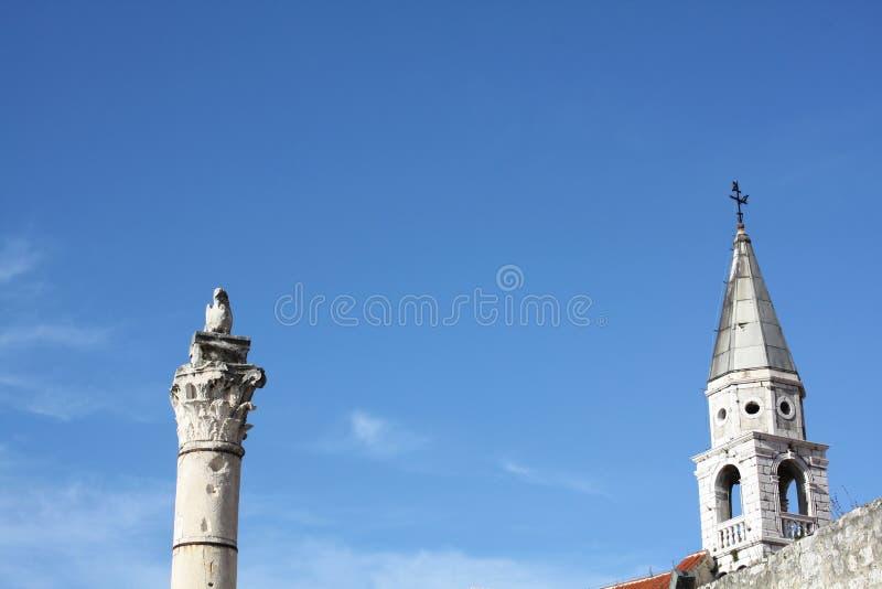 Штендер стыда в Zadar Хорватии стоковая фотография