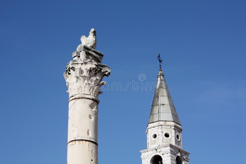 Штендер стыда в Zadar Хорватии стоковые изображения