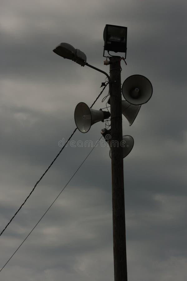 Штендер с коммуникационными устройствами стоковые изображения