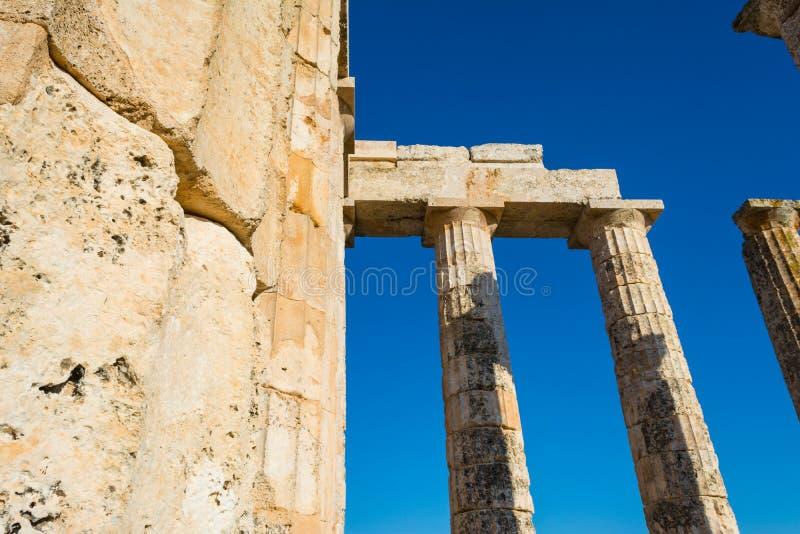 Штендеры старого виска Зевса стоковое фото rf