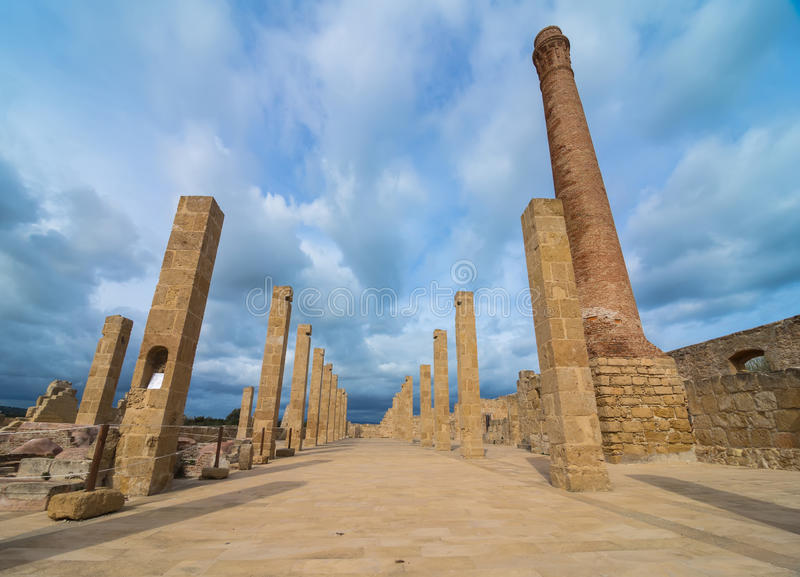 Штендеры старого Tonnara на заповеднике Vendicari в Сицилии стоковые изображения