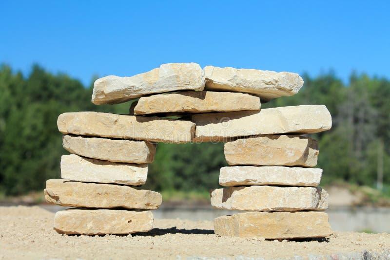 Штендер камня стоковые фото