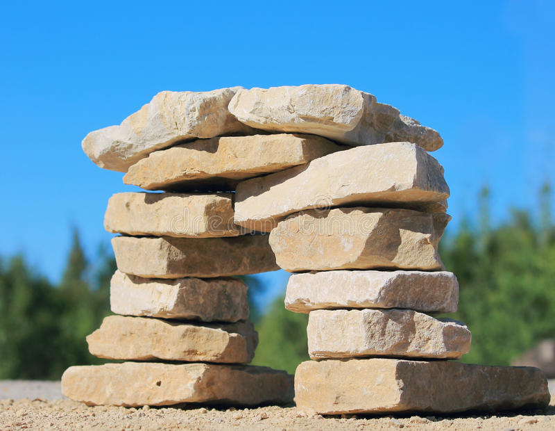 Штендер камня стоковое изображение