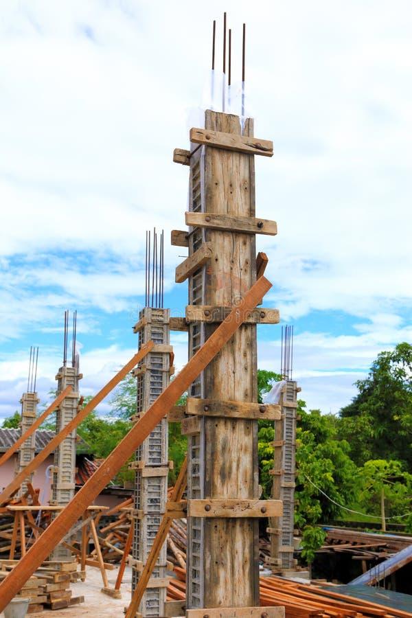 Штендер цемента здания для домашней конструкции стоковое фото