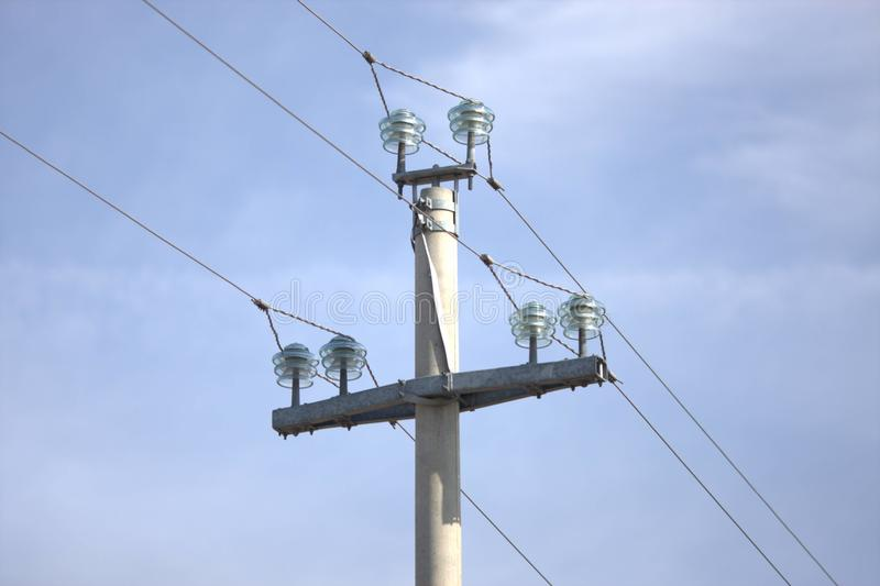 Штендер tranportation электричества стоковое фото rf