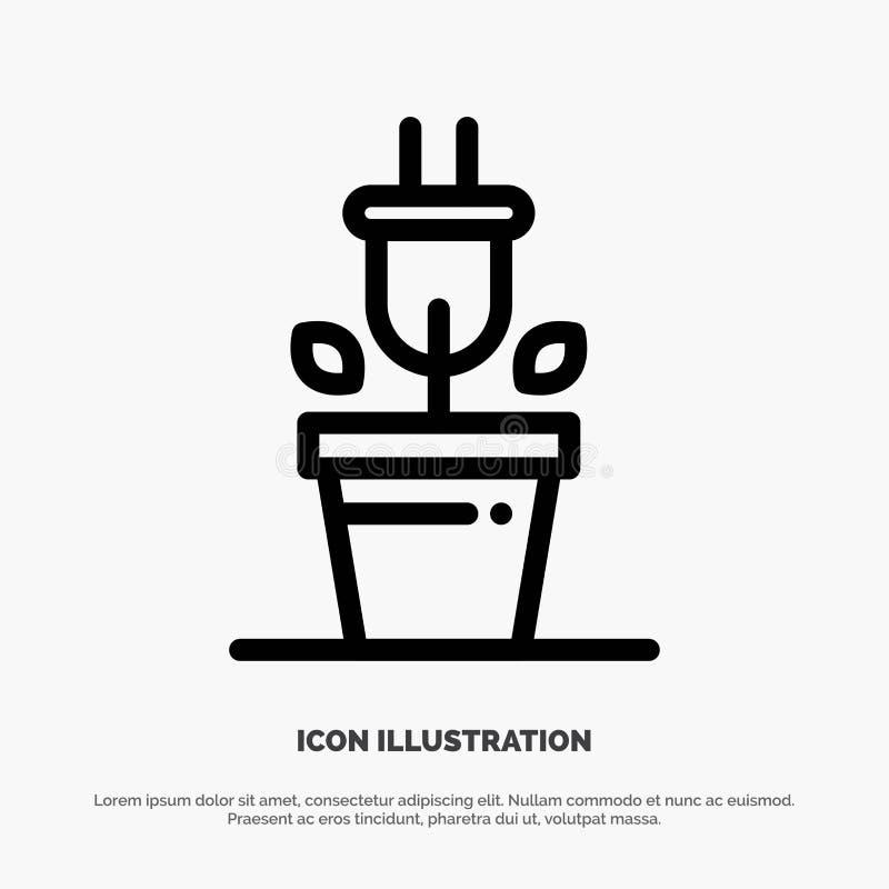 Штепсельная вилка, завод, линия вектор технологии значка бесплатная иллюстрация