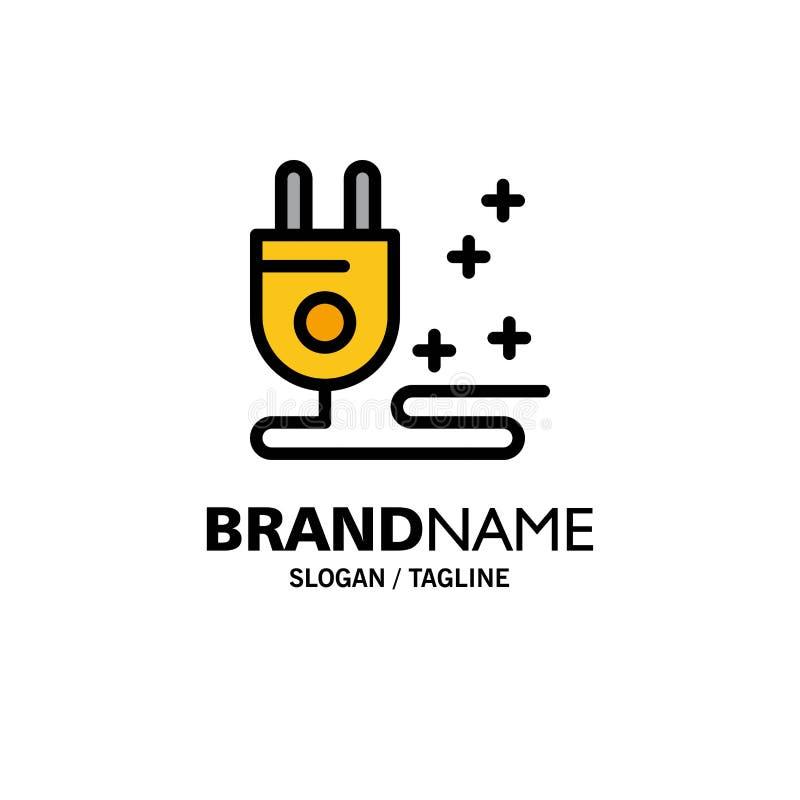 Штепсельная вилка, кабель, выходя на рынок шаблон логотипа дела r иллюстрация штока
