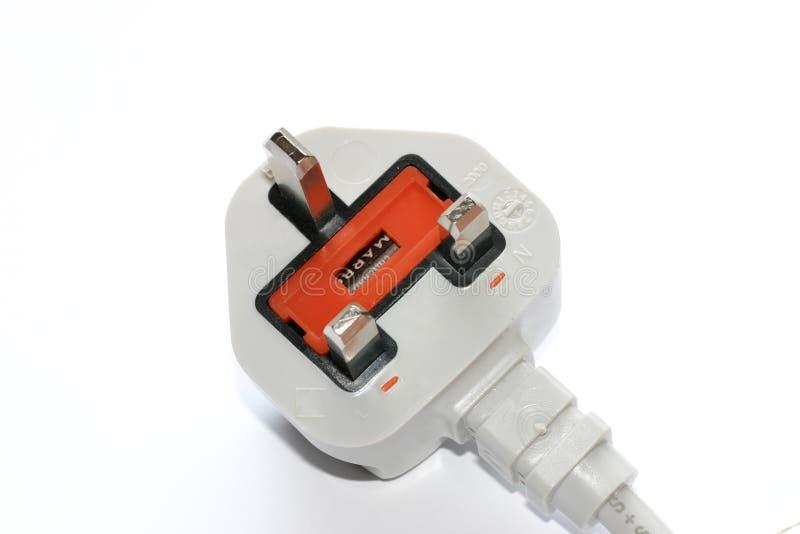Download штепсельная вилка 3 штырей стоковое изображение. изображение насчитывающей plug - 492315