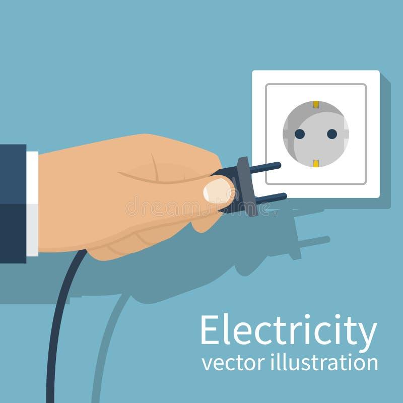 Штепсельная вилка электричества иллюстрация вектора