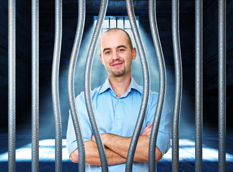 штилевая тюрьма человека стоковое изображение rf