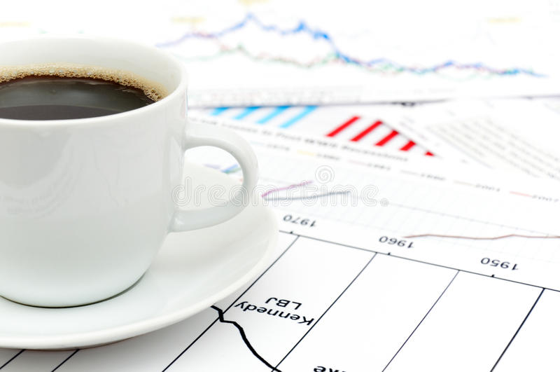 шток кофе диаграммы стоковое фото rf