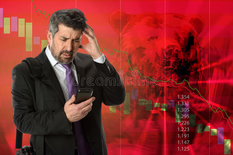 шток рынка аварии стоковое фото rf