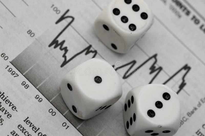 шток рынка азартной игры стоковое фото