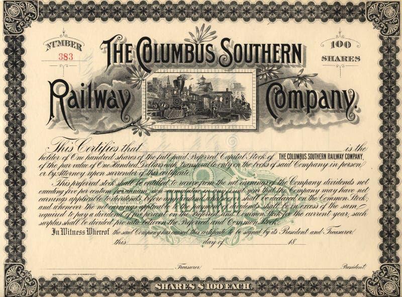 шток 3 сертификатов старый стоковая фотография