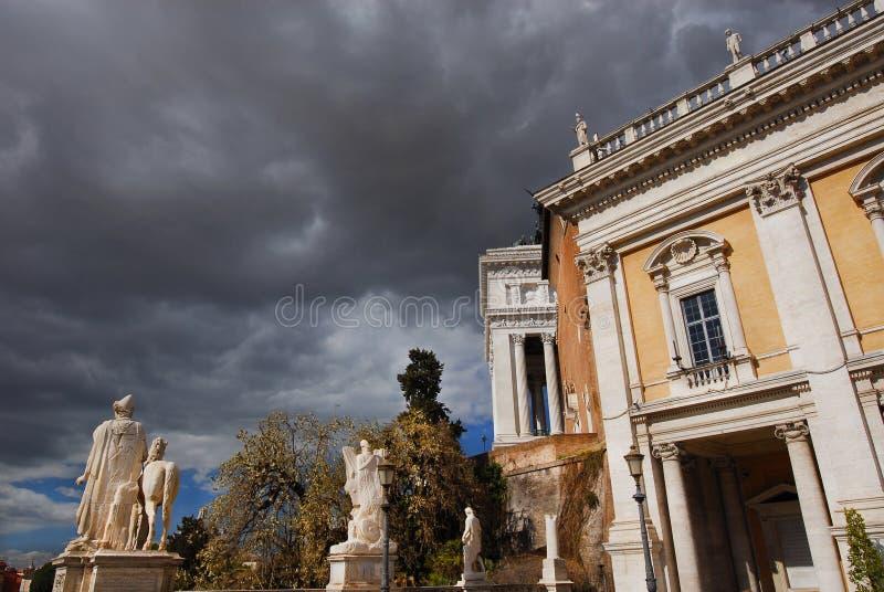 Штормовая погода холма Capitoline стоковое изображение