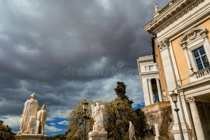 Штормовая погода холма Capitoline стоковые фото