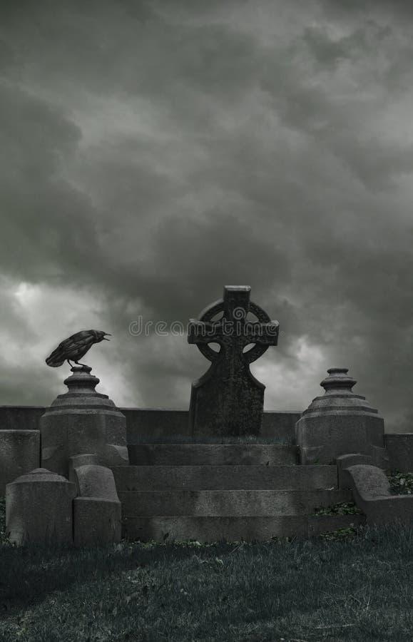 Штормы кладбища вороны стоковая фотография rf