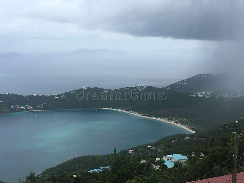 Шторм дождя в St. Thomas стоковые фотографии rf