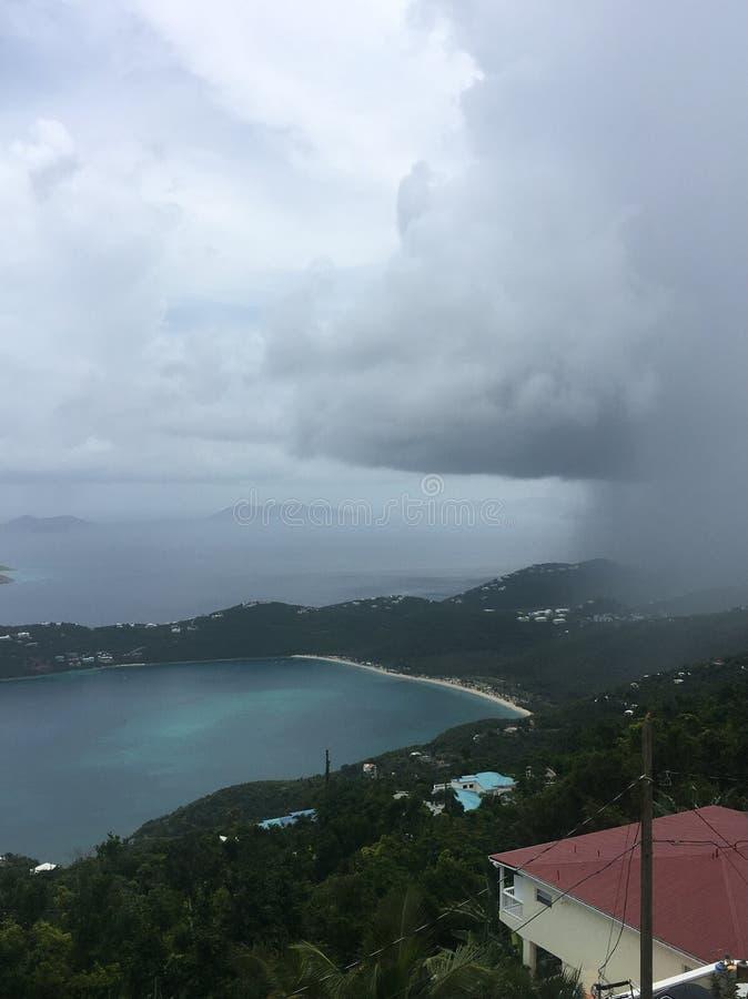 Шторм дождя в St. Thomas стоковая фотография
