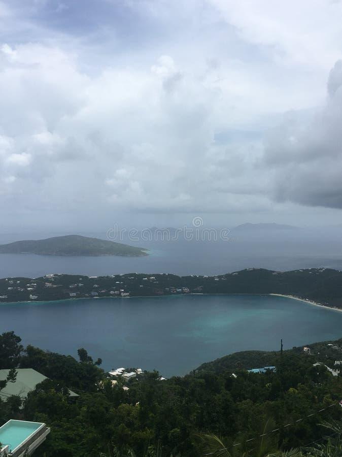 Шторм дождя в St. Thomas стоковое изображение rf