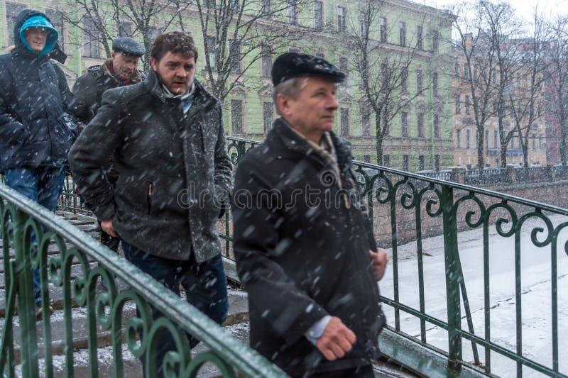 Шторм зимы в Санкт-Петербурге стоковые изображения