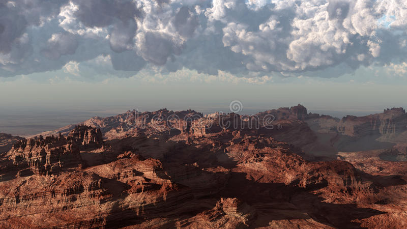 шторм красного цвета пустыни иллюстрация вектора