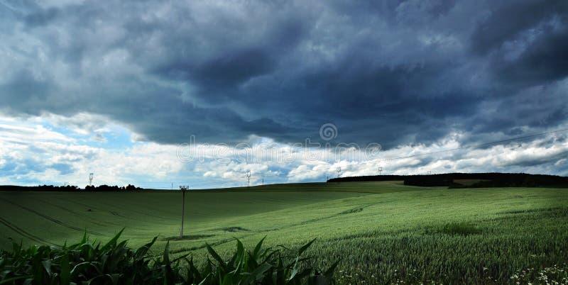 шторм ландшафта облака стоковые изображения rf