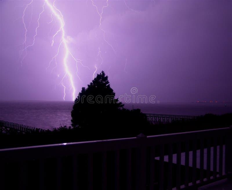 шторм молнии Каролины северный стоковое изображение rf