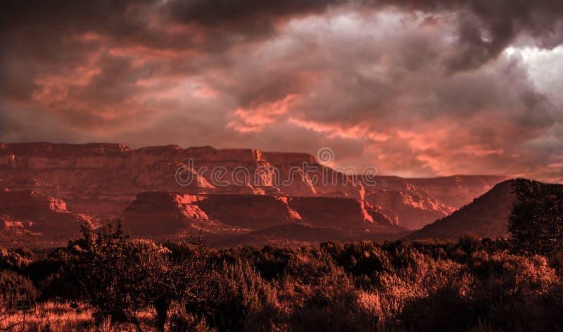 Шторм над Sedona Аризоной стоковое изображение