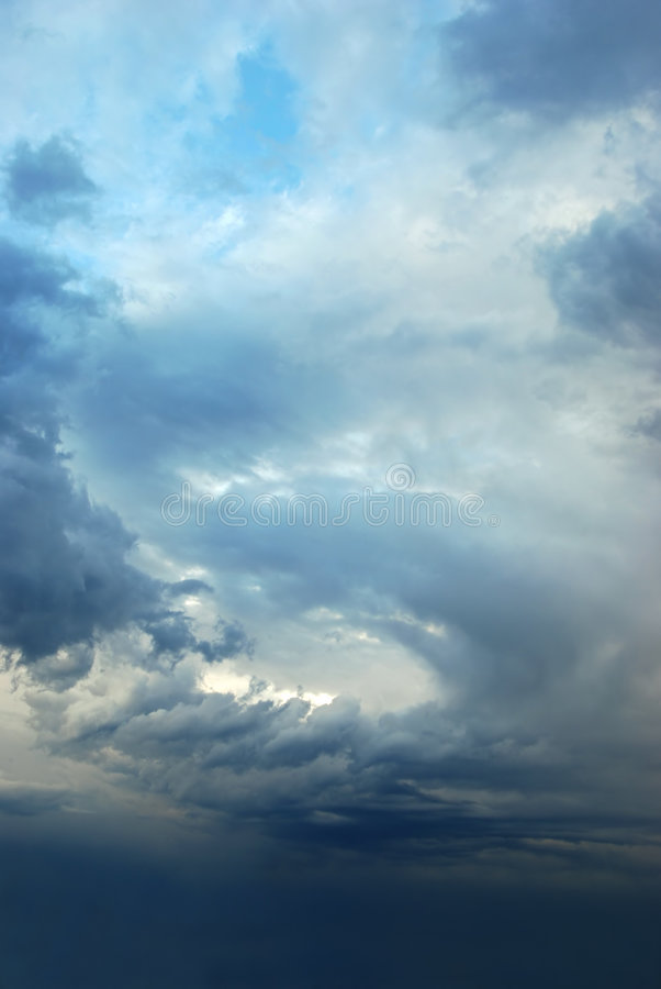 шторм неба стоковые изображения
