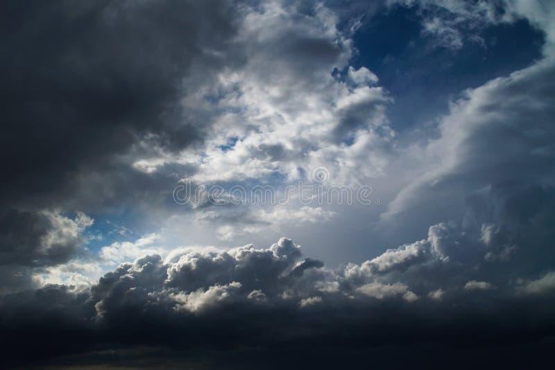 шторм неба overcast облаков стоковое фото rf