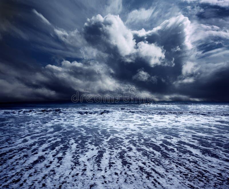 шторм океана стоковое фото