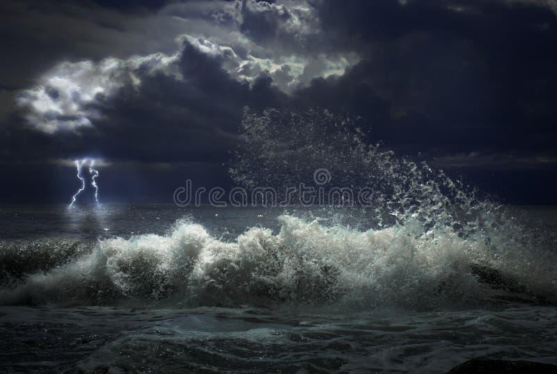 шторм освещения стоковая фотография rf