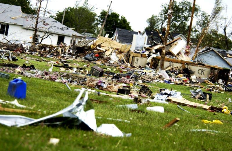 шторм повреждения стоковое изображение