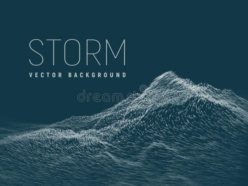 шторм Предпосылка вектора бесплатная иллюстрация